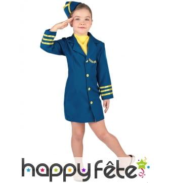 Uniforme d'hôtesse de l'air pour enfant