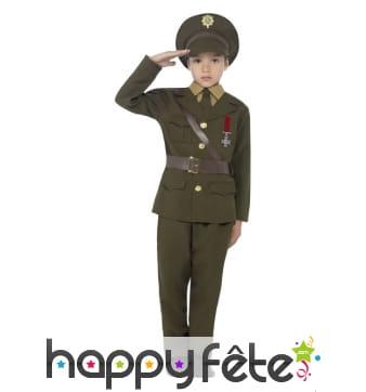 Uniforme d'officier seconde guerre pour enfant