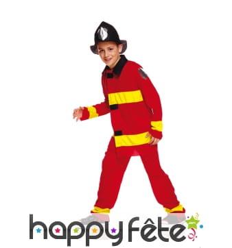 Uniforme de petit pompier rouge