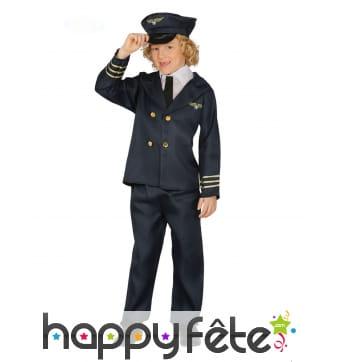 Uniforme de pilote pour enfant