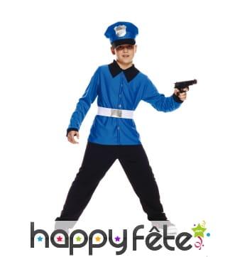 Uniforme de policier bleu pour enfant