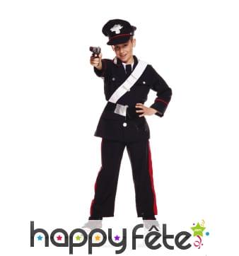 Uniforme de policier carabinier pour enfant