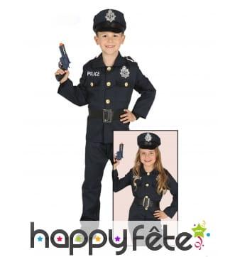 Uniforme de policier pour enfant