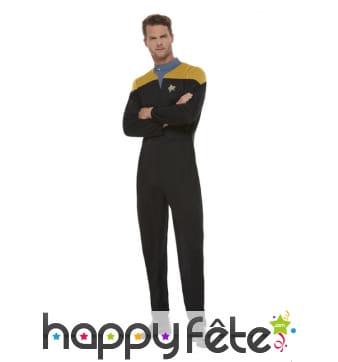 Uniforme de Star Trek or noir pour homme