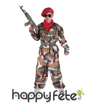 Uniforme militaire camouflage pour enfant