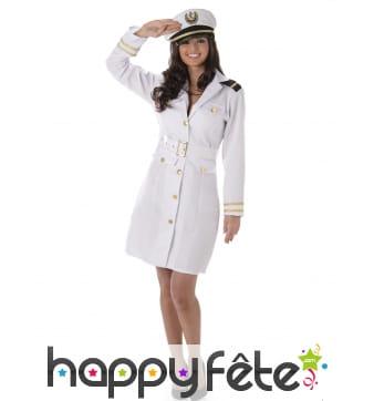 Uniforme robe de femme officier marin