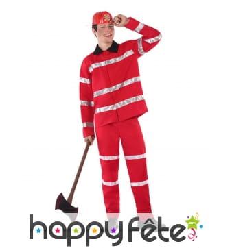 Uniforme rouge de pompier pour ado