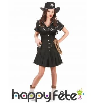 Uniforme robe noire de femme shérif