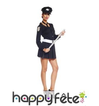 Uniforme sexy court de femme policier