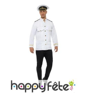 Veste blanche de capitaine de la marine