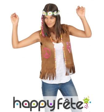 Veste de hippie marron pour femme