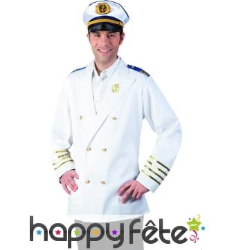 Veste de marin blanche pour homme