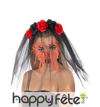 Voile de mariée zombie ensanglanté pour adulte