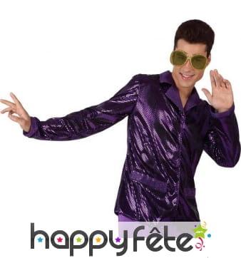 Veste disco violette pour homme