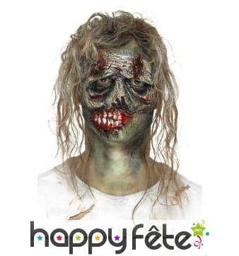 Visage de zombie, prothèse en mousse de latex