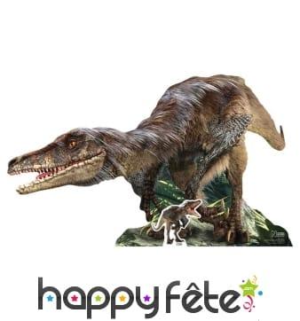 Vélociraptor en carton plat de 155cm
