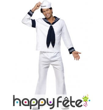 Costume Marin blanc des Village People Licence