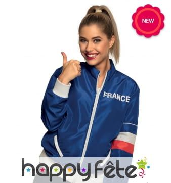 Veste pour supportrice de l'équipe de France