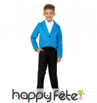 Veste queue de pie bleue pour enfant