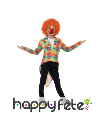 Veste queue de pie de clown pour enfant