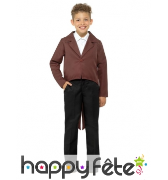 Veste queue de pie marron pour enfant