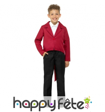Veste queue de pie rouge pour enfant