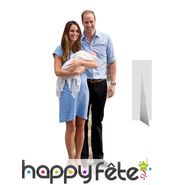 William Kate et bébé georges en carton plat