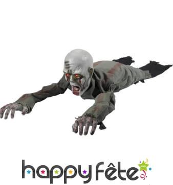 Zombie rempant avec yeux lumineux et bras animés