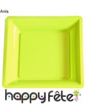 12 assiettes carrées en plastique, image 10
