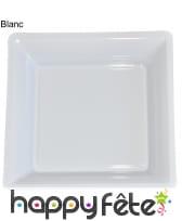 12 assiettes carrées en plastique, image 6