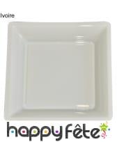 12 assiettes carrées en plastique, image 4