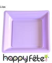 12 assiettes carrées en plastique, image 16
