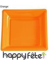 12 assiettes carrées en plastique, image 17