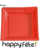12 assiettes carrées en plastique, image 15