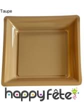 12 assiettes carrées en plastique, image 14