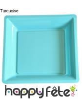 12 assiettes carrées en plastique, image 13