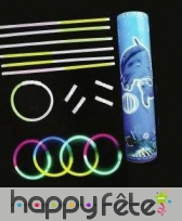 100 bracelets bleu lumineux d'ambiance, image 8