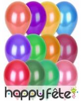 100 ballons coloris métalliques, 29cm, image 1