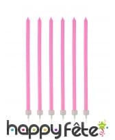 16 Bougies fines de 12cm avec bobèches, image 2