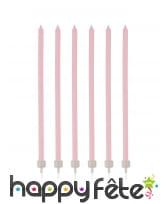 16 Bougies fines de 12cm avec bobèches, image 3