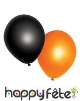 10 Ballons Halloween noirs et orange