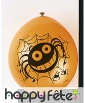 10 Ballons noirs gentille araignée, image 1