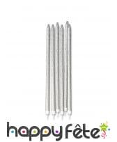 12 bougies pailletées de 15 cm, image 2