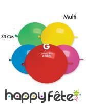 12 Ballons ronds avec lien, 33cm, image 4