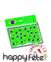 150 confettis de table drapeau bresil, image 1