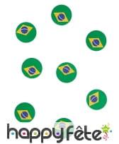 150 confettis de table drapeau bresil, image 2