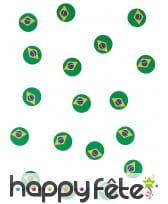 150 confettis de table drapeau bresil, image 3