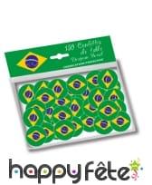 150 confettis de table drapeau bresil