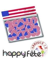 150 confettis de table drapeaux USA, image 1
