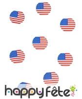 150 confettis de table drapeaux USA, image 2